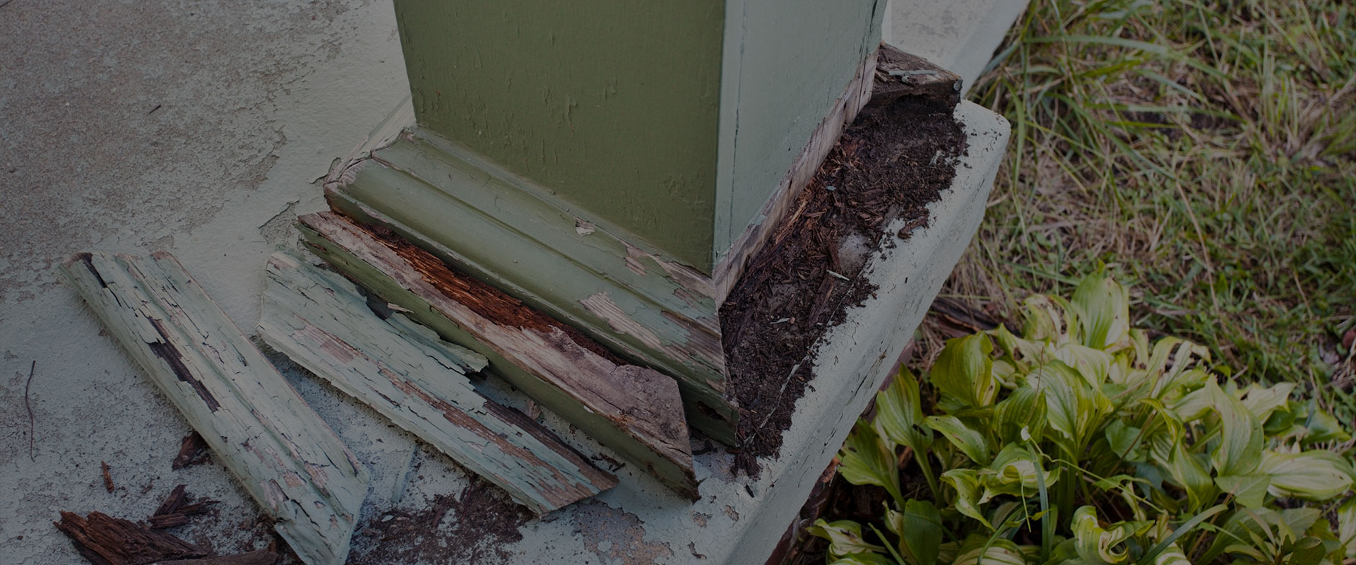 Porch Post Destroyed By Termites